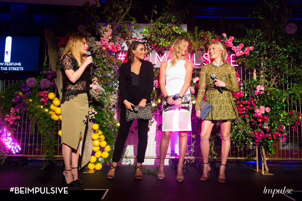 At the event with MC, Channel V's Carissa Walford. The floral display, which surrounded the room was by Mr Cook.